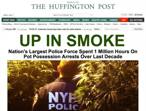 Huffington Post Up In Smoke